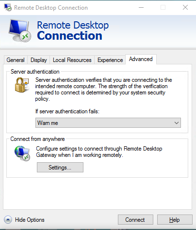 Remote Access Desktop (my office workstation) - Windows