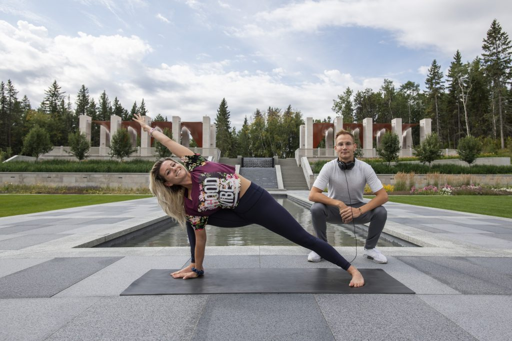 Yoga in Aga Khan Garden