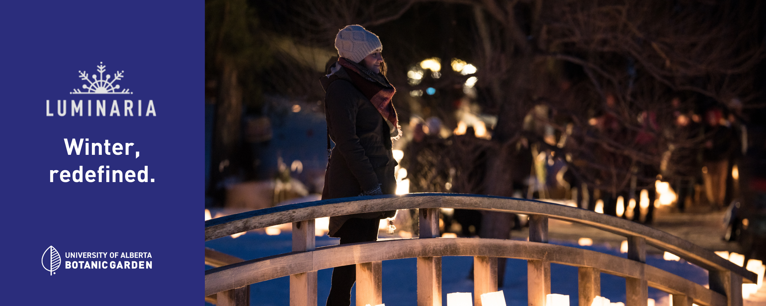 Luminaria girl on bridge